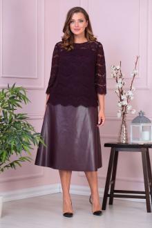 блуза,  юбка Anastasiya Mak 918а бордовый