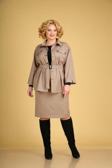 рубашка,  юбка Ксения Стиль 1941 бежевый
