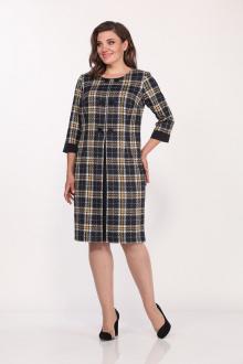 Lady Style Classic 1758/1 темно-синий_желтый