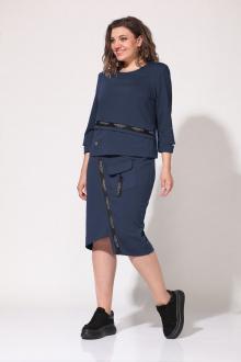 джемпер,  юбка Lady Style Classic 2105 синий