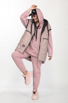 брюки,  джемпер,  жилет Lady Secret 4002 розовый+бежево-розовый