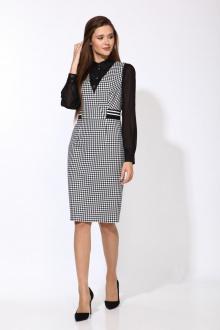 блуза,  сарафан Karina deLux М-9922 черно-белый