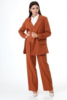 брюки,  жакет,  жилет Anelli 970 коричневый