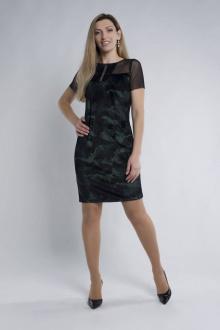 платье Effect-Style 686 чёрный,хаки