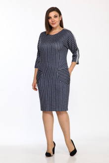 Lady Style Classic 1379/1 синий-серый+полоска