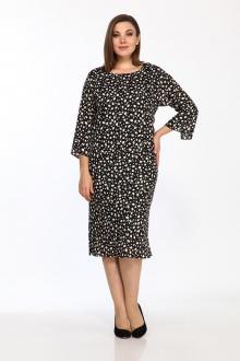 платье,  туника Lady Style Classic 1640/2 черный-бежевый