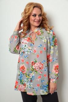 блуза Michel chic 760 серый-цветы