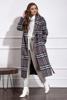 пальто Nova Line 10272 серая_клетка