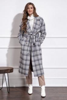 пальто Nova Line 10274 серая_клетка