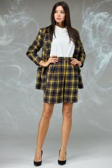 жакет,  шорты Angelina & Сompany 598 желтая_клетка