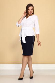 блуза,  юбка Klever 277+3016 синий+белый