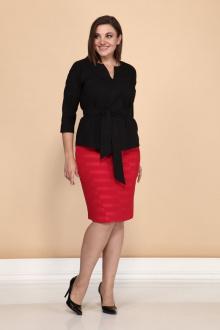 блуза,  юбка Klever 262+3016 красный+черный