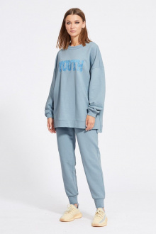 брюки,  джемпер EOLA 2117 серо-голубой