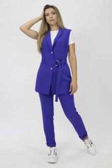 брюки,  жилет Effect-Style 826 васильковый
