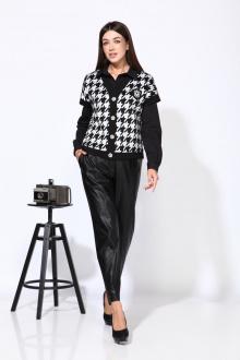 брюки,  жилет,  рубашка Karina deLux М-9936 черно-серый