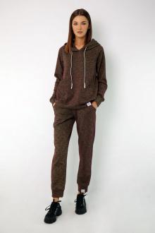 брюки, худи Kivviwear 4046-4050 бордово-салатовый_меланж