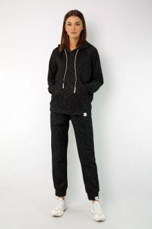 брюки, худи Kivviwear 4046-4050 черно-серый_меланж