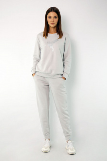 брюки,  свитшот Kivviwear 4048-4051 светло-серый