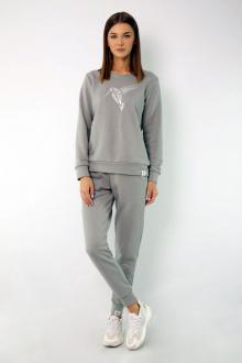 брюки,  свитшот Kivviwear 4048-4051 серый