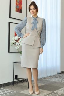 блуза,  жилет,  юбка Мода Юрс 2538 светло-бежевый