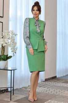 блуза,  жилет,  юбка Мода Юрс 2538 зеленый