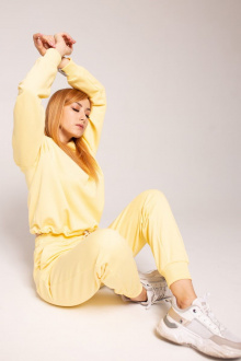 брюки,  свитшот Faldas ФС-22.170 жёлтый