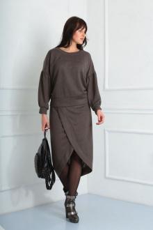 джемпер,  юбка VIA-Mod 488 коричневый