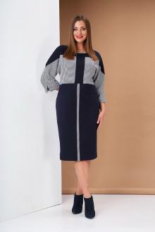 платье Andrea Style 0405 синий