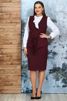 блуза,  жилет,  юбка Белтрикотаж 4232 бордо