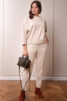 брюки,  свитшот Amelia Lux 3520 бежевый