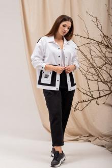 брюки,  куртка Angelina 689 черно-белый