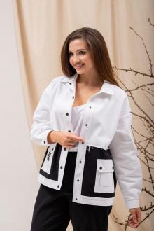 куртка Angelina 6892 черно-белый