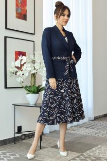 жакет,  топ,  юбка Мода Юрс 2707 темно-синий