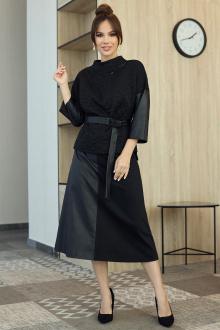 топ,  юбка,  блуза Мода Юрс 2709 черный