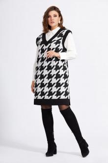 блуза,  жилет Милора-стиль 937 гус.лапка