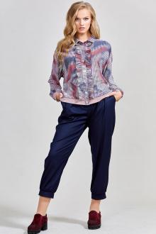 блуза Teffi Style L-1534 голограмма