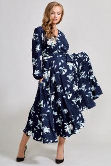 платье Teffi Style L-1417 сапфировый