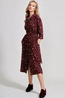 платье Teffi Style L-1586 бордовый