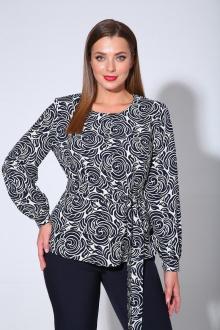 блуза Liona Style 763Б цветы