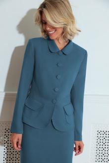 жакет,  юбка LeNata 21212 темно-голубой