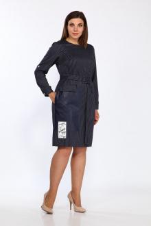 платье Lady Style Classic 2304/1 темно-синий_белый