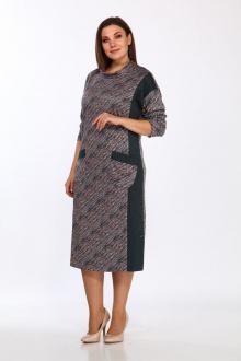 платье Lady Style Classic 1649 зеленый_принт