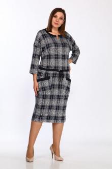 платье Lady Style Classic 1673 темно-синий_серый