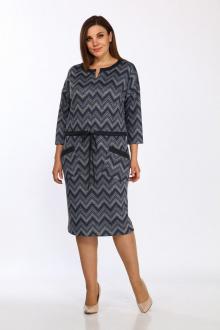 платье Lady Style Classic 1673/2 синий_серый