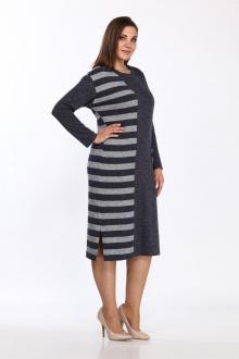 платье Lady Style Classic 1981/1 синий-серый
