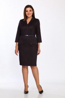 платье Lady Style Classic 1996/1 темно-синий_кирпичный