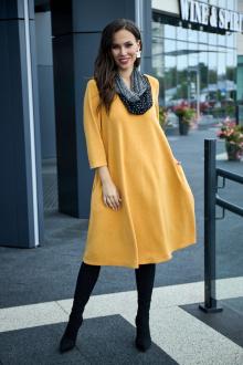 платье, шарф Anastasia 495+ шарфик горчица
