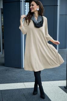 платье, шарф Anastasia 495+ шарфик песочный