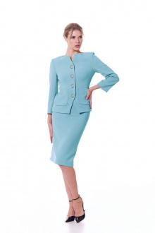 жакет,  юбка Vladini SТ1330 голубой