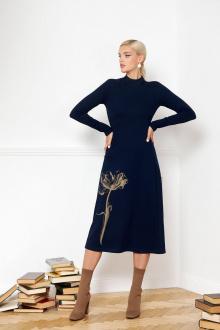 платье VIZANTI 9317 темно-синий